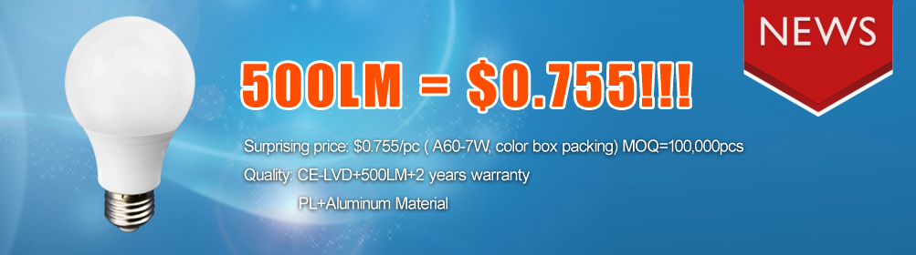 Hot LED item A60 7W in Europe having Promotion Now!!!